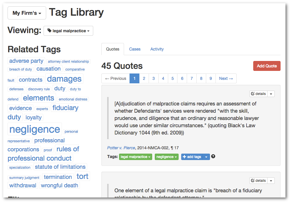 Organize your key authority using tags.